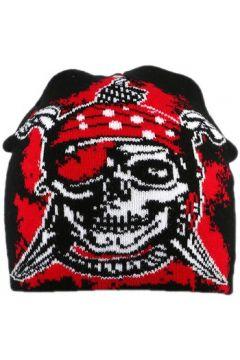 Chapeau Divers Bonnet Biker avec pirate Noir et Rouge(115449013)