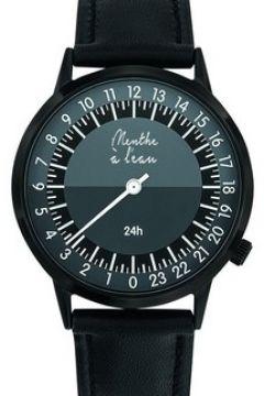 Montre Menthe A L\'eau La 24 Heures cuir noir(115496573)