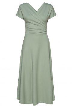 Anis Ecovero Dress Kleid Knielang Grün RESIDUS(114164575)
