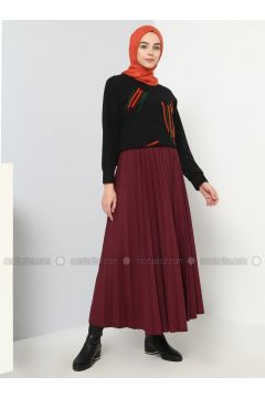 Maroon - Unlined - Cotton - Skirt - Benin(110327868)