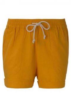 TOM TAILOR DENIM Damen Relaxed Shorts mit elastischem Bund, gelb, Gr.XL(117013945)