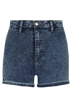 Dunkelblaue, verwaschene Denim Shorts(111016578)