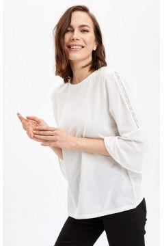DeFacto Kadın Uzun Kollu T-shirt(119057288)
