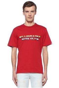 Billionaire Boys Club Erkek Gradient Graphic Beyaz Logolu Basic T-shirt Kırmızı S EU(108579541)