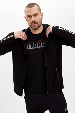 DeFacto Erkek Kapüşonlu Slim Fit Fermuarlı Sweatshirt(125923407)