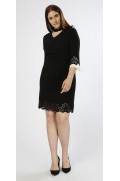 Ekol Oyuklu Siyah Elbise(113961387)