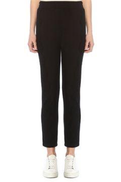 Beymen Collection Kadın Siyah Dantel Garnili Jarse Pantolon M(108873779)
