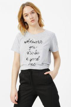 Limon Gri Melanj T-Shirt(113995795)