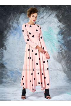 Powder - Polka Dot - Crew neck - Fully Lined - Dresses - Eda Atalay(110331463)