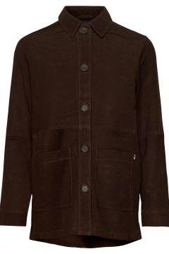 Kathy Suede Worker Shirt Overshirts Braun LEXINGTON CLOTHING(121166157)