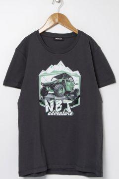 Nebbati B&G Antrasit Erkek Çocuk T-Shirt(114005890)