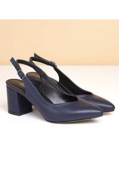 Pierre Cardin Pc-50173 Kadın Topuklu Ayakkabı-lacivert(124004963)