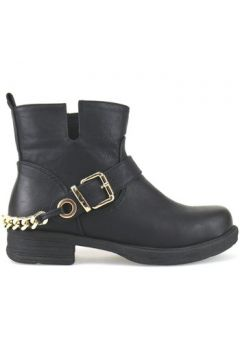 Boots Francescomilano bottines noir cuir AJ226(88517714)