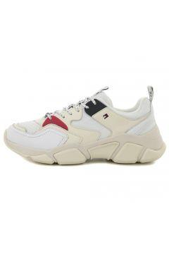 Tommy Hilfiger Wmn Chunky Mıxed Textıle Traıner Kadın Günlük Ayakkabı Beyaz(77688435)