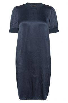 Cilla Evalyn Dress Kleid Knielang Blau BRUUNS BAZAAR(116470528)