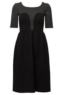 Mickey Tee Dress Kleid Knielang Schwarz R/H STUDIO(114163050)