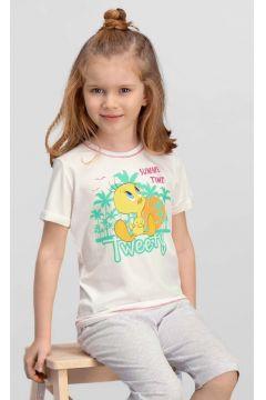 Looney Tunes Looney Tunes Lisanslı Krem Kız Çocuk T-Shirt(119156994)