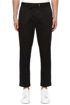 Dolce&Gabbana Erkek Siyah Beli Kordonlu Dar Paça Pantolon 46 IT(121108427)