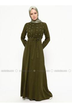 Khaki - Crew neck - Unlined - Dresses - SUEM(110315259)