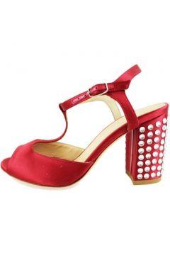 Sandales Lella Baldi sandales rouge satin strass AH826(88521352)