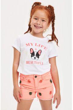 DeFacto Kız Çocuk Baskılı Kısa Kollu T-shirt(119064327)