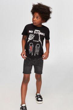Nebbati B&G Siyah Erkek Çocuk T-Shirt(114005895)
