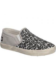 Chaussures enfant Date slip on blanc textile noir AD838(115395349)