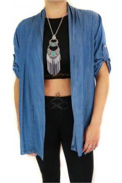 Gilet Primtex Gilet en jean bleu ouvert coupe mi-long manches réglables(88678742)