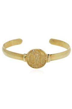 Mo Erkek Gold Madalyon Detaylı Gümüş Rengi Bilezik Altın EU(118059631)