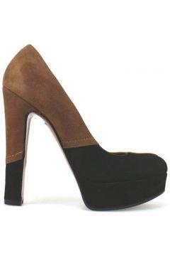 Chaussures escarpins Gianni Marra escarpins marron noir daim AJ298(115399894)