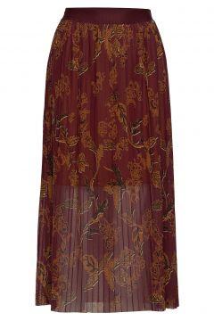 Plissé Mesh Skirt Langes Kleid Bunt/gemustert MOS MOSH(116303827)