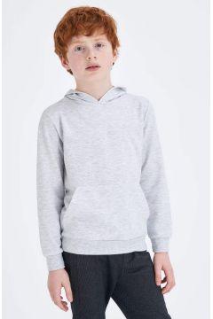 DeFacto Erkek Çocuk Kapüşonlu Kanguru Cepli Basic Sweatshirt(119064915)