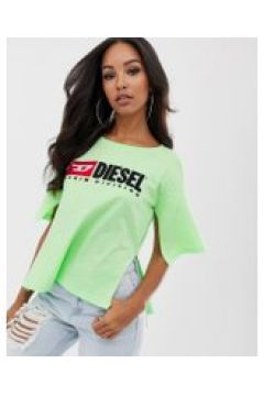 Diesel - Heritage - T-Shirt mit Logo - Grün(87106388)