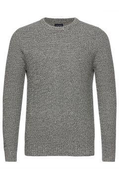 Claude Organic Cotton Twisted Yarn Sweater Strickpullover Rundhals Grau LEXINGTON CLOTHING(121166179)