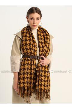 Brown - Printed - Shawl Wrap - GINA LOREN(110335063)