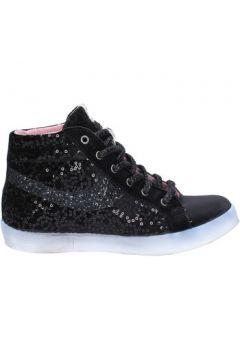 Chaussures Fiori Di Picche sneakers noir velours paillettes BX345(115442533)