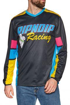 T-Shirt à Manche Longue Rip N Dip Racing Team Longsleeve Jersey - Black(111333250)