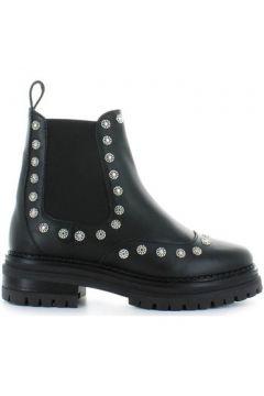 Boots Stokton Bottines Cuir Noir Avec Clous(101554281)