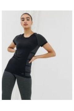 adidas - Primeknit Cru - T-Shirt in Schwarz - Schwarz(83106283)