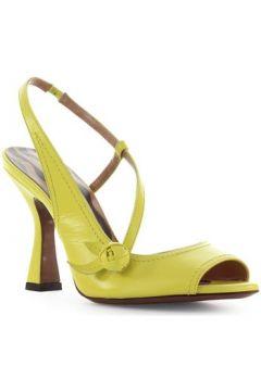 Sandales L\'autre Chose Sandale Slingback En Cuir Jaune(101594442)