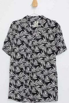 DeFacto Erkek Çiçekli Slim Fit Gömlek(108987974)
