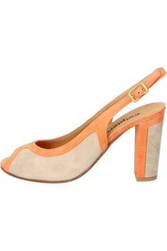 Sandales Calpierre sandales orange daim beige BZ796(115399016)
