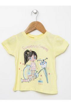 Koton Sarı Baskılı T-Shirt(113977997)
