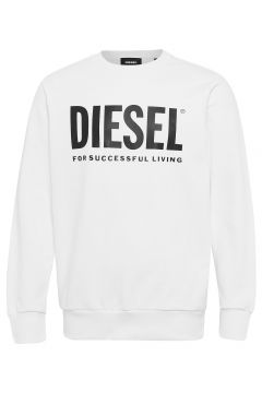 S-Gir-Division-Logo Sweat-Shirt Sweat-shirt Pullover Weiß DIESEL MEN(113822999)