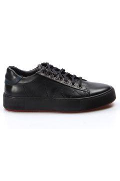 FAST STEP Hakiki Deri Siyah Erkek Sneaker(110943848)