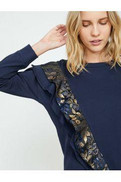 Koton Kadın Firfir Detayli Sweatshirt(113784594)