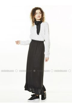 Black - Unlined - Cotton - Skirt - Gippe Collection(110332436)