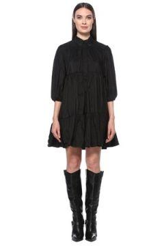 Network Kadın Regular Fit Siyah Polo Yaka Mini Elbise 34 EU(123608731)