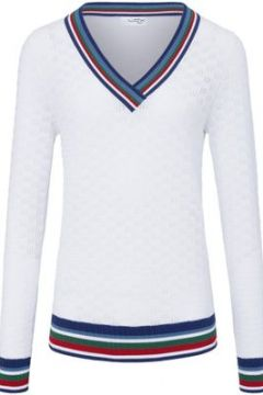V-Pullover aus 100% SUPIMA®-Baumwolle Looxent mehrfarbig(110578023)