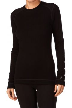 Top Seconde Peau Femme Smartwool NTS Midweight Crew - Black(111331132)